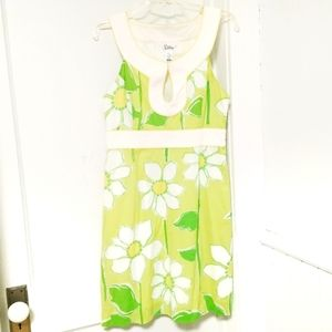 Lilly Pulitzer Vintage White Label Daisy Dress s 8